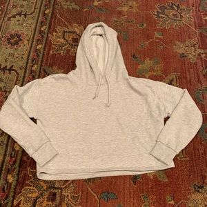 Forever21 Light Grey Crop Hoodie